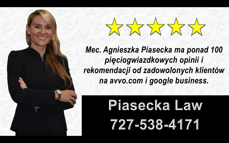 Agnieszka Aga Piasecka Reviews Polski, Adwokat, Prawnik, Miami, Floryda, USA